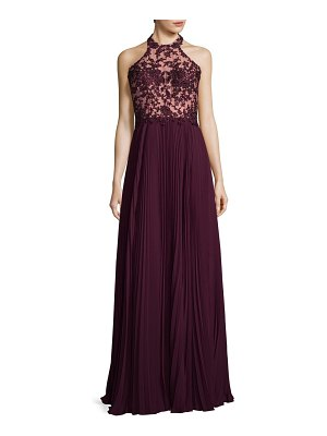 Basix Black Label Pleated Floral Gown