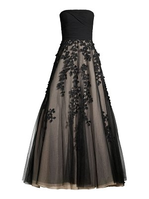 Basix Black Label ruched strapless ball gown