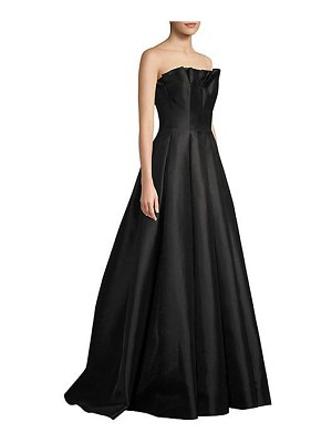Basix Black Label ruffled strapless gown