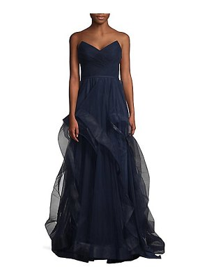 Basix Black Label strapless tulle gown