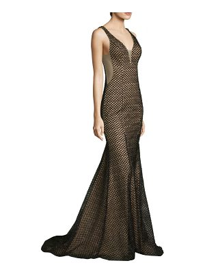 Basix Black Label v-neck fitted gown