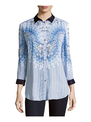 Basler Printed Button-Down Shirt