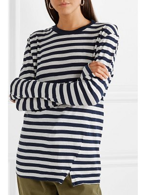 bassike classic vintage striped organic cotton-jersey top