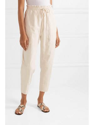 bassike cropped cotton-canvas tapered pants