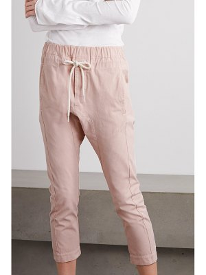 bassike cropped cotton track pants