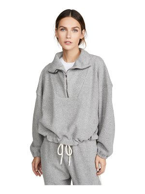 bassike reverse fleece oversized polo sweatshirt