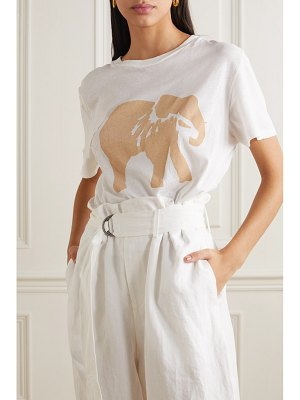 bassike space for giants sofia salazar printed organic cotton-jersey t-shirt