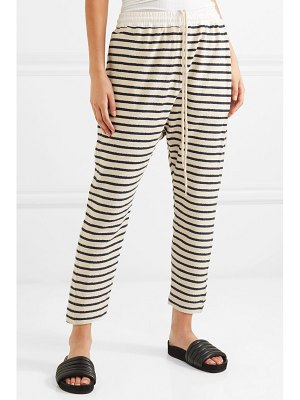 bassike striped cotton-terry track pants