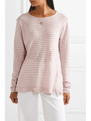 bassike striped organic cotton-jersey top