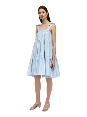 BATSHEVA Amy ruffled moiré midi dress