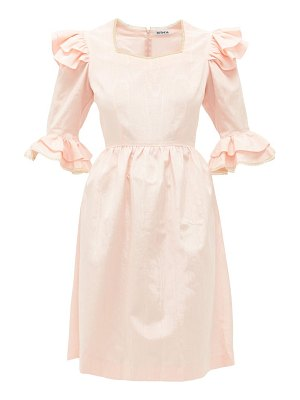 BATSHEVA antoinette ruffled moire dress