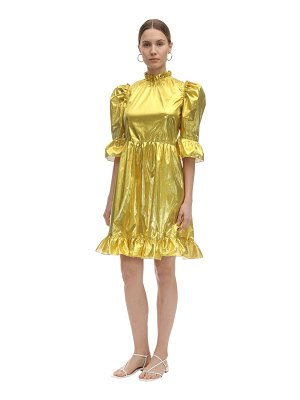 BATSHEVA Spring prairie metallic mini dress