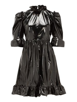 BATSHEVA spring ruffled pvc mini dress