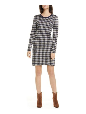 Baum Und Pferdgarten cabana metallic houndstooth check long sleeve sweater dress