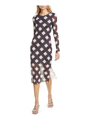 Baum Und Pferdgarten jolanda check print long sleeve midi dress