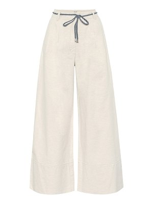 Baum Und Pferdgarten nour cotton and linen wide-leg pants