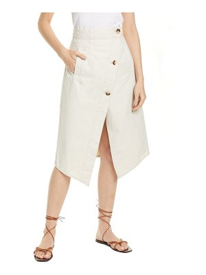Baum Und Pferdgarten savannah asymmetrical cotton & linen skirt