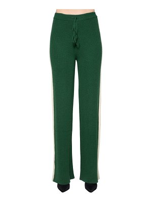 Baum Und Pferdgarten Side band wool blend knit pants