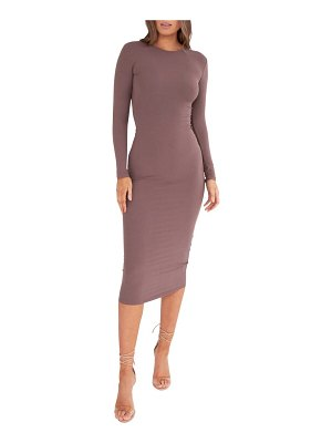BAYSE crewneck sheath dress