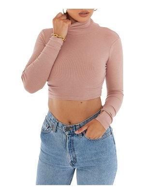 BAYSE crop turtleneck sweater
