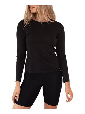 BAYSE jewel neck bodysuit