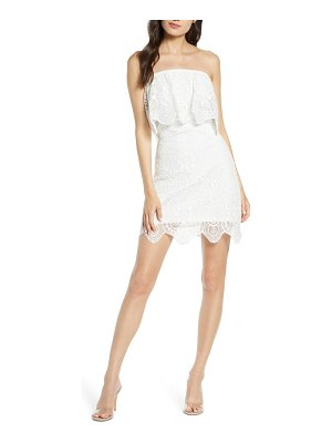 BB Dakota a lace of you strapless lace minidress