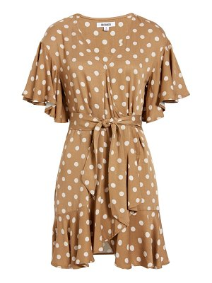 BB Dakota butterscotch bae ruffle wrap minidress
