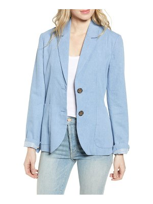 BB Dakota feel it in the rain denim blazer