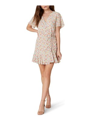 BB Dakota flower on ruched floral minidress