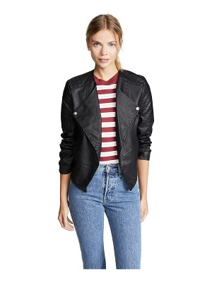 BB Dakota jack by  one more time drape front vegan leather jacket