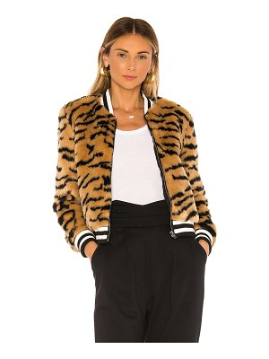 BB Dakota jack by  tiger beat faux fur bomber jacket