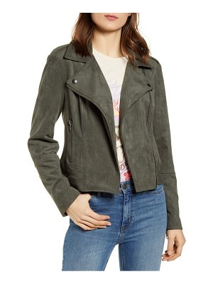 BB Dakota not your baby faux suede moto jacket