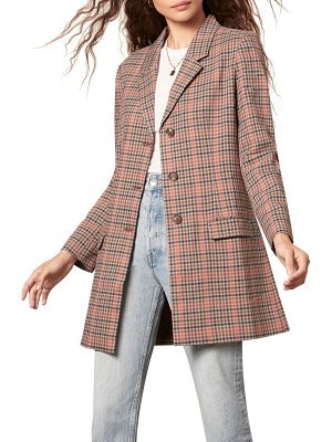 BB Dakota plaid boyfriend blazer