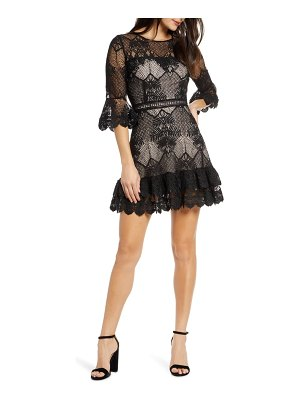 BB Dakota ruffle lace minidress