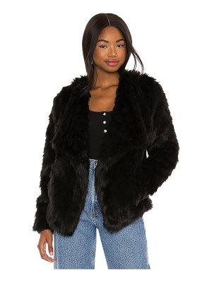 BB Dakota shag race faux fur jacket