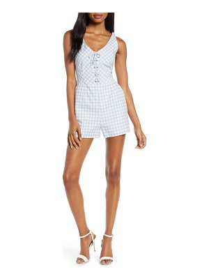 BB Dakota sleeveless gingham romper