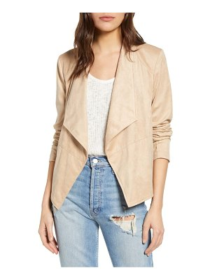 BB Dakota suede it out drape front faux suede jacket