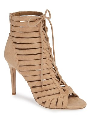 BCBG julie lace-up open toe bootie