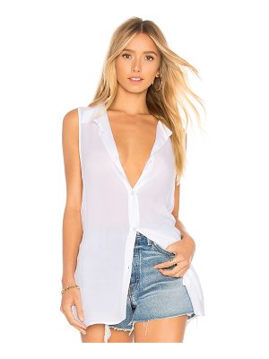 BCBGeneration Back Lace Up Button Down Tank