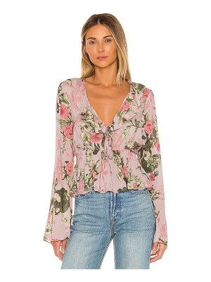 BCBGeneration bow front long sleeve top