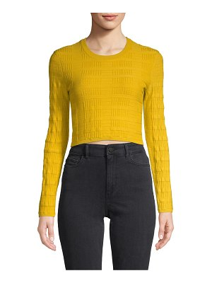 BCBGeneration Cropped Cotton-Blend Sweater