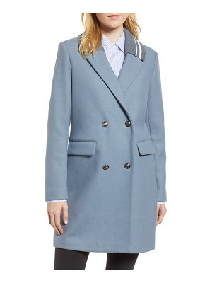 BCBGeneration knit collar wool blend coat
