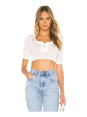 BCBGeneration lace up short sleeve top