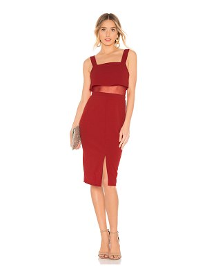 BCBGeneration Overlay Midi Dress
