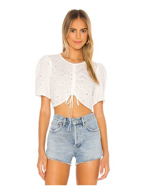 BCBGeneration ruched front puff top