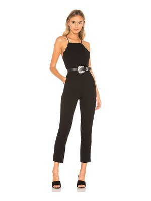 BCBGeneration Scalloped Ankle Jumpsuit