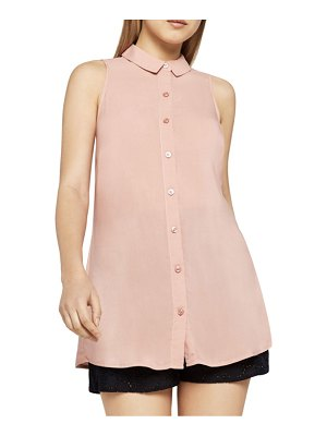 BCBGeneration Tie-Back Button-Front Tank Top