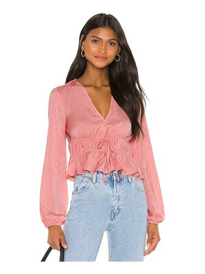 BCBGeneration tie front long sleeve top