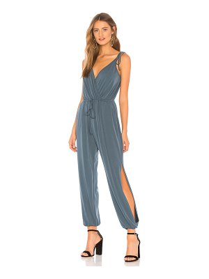 BCBGeneration Tie-shoulder Surplice Jumpsuit