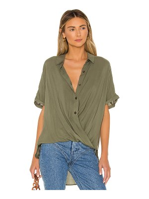 BCBGeneration wrap hem top